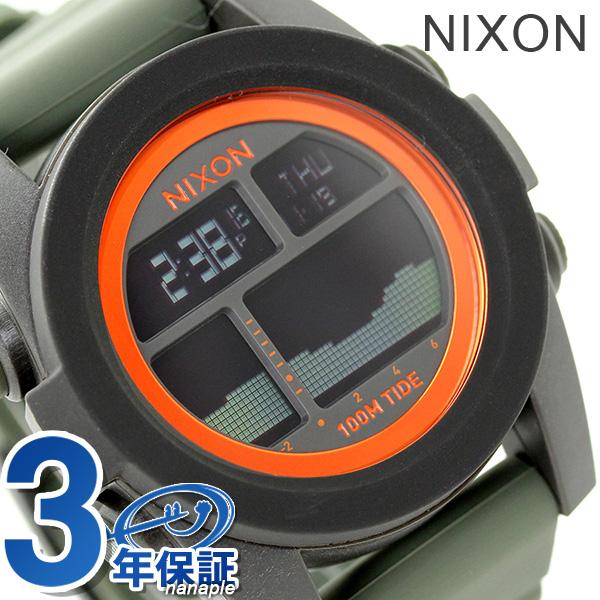 ニクソン A2822050 nixon ユニット タイド メンズ 腕時計 ブラック/サープラス/オレンジ 時計