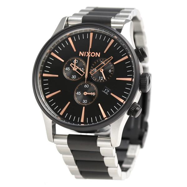 尼克鬆A3862051 nixon步哨計時儀人手錶黑色/玫瑰黄金