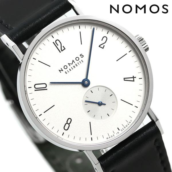 ノモス NOMOS ドイツ製 手巻き 101 タンジェント 35mm メンズ 腕時計 TN1A1W1 シルバー×ブラック 時計【あす楽対応】