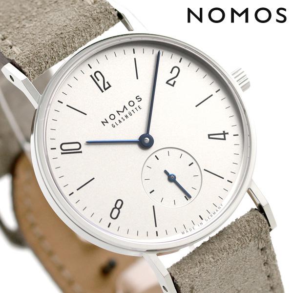 ノモス NOMOS ドイツ製 手巻き 122 タンジェント スモールセコンド 33mm レディース 腕時計 TN1A1W133 シルバー×ベージュ 時計【あす楽対応】