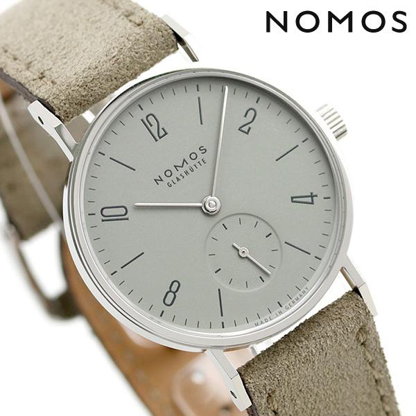 【10日はさらに+4倍で店内ポイント最大53倍】 ノモス NOMOS ドイツ製 手巻き 125 タンジェント 33mm レディース 腕時計 TN1A1LG233 グレー×グレージュ 時計【】