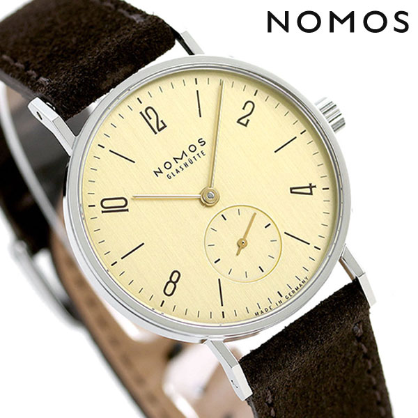 ノモス NOMOS ドイツ製 手巻き 126 タンジェント カラット 33mm レディース 腕時計 TN1A1KR233 ゴールド×ブラウン 時計【あす楽対応】