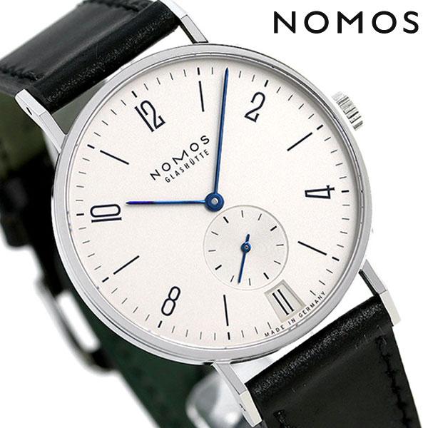 ノモス NOMOS ドイツ製 手巻き 130 タンジェント デイト 38mm メンズ 腕時計 TN1B1W2L シルバー×ブラック 時計【あす楽対応】