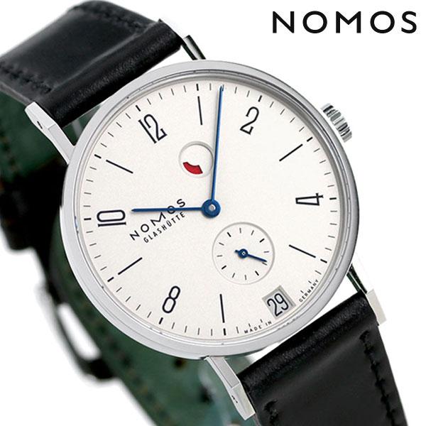 ノモス NOMOS ドイツ製 手巻き 131 タンジェント デイト パワーリザーブ 35mm メンズ 腕時計 TN1D1W2RD シルバー×ブラック 時計【あす楽対応】