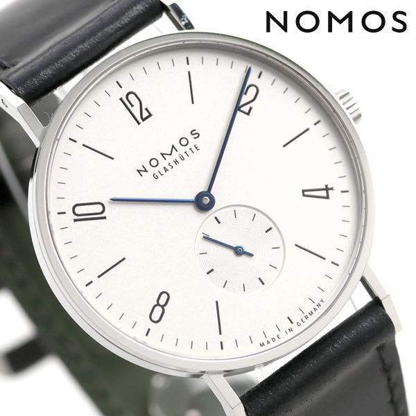 ノモス NOMOS ドイツ製 手巻き 165 タンジェント スモールセコンド 38mm メンズ 腕時計 TN1A1W138 ホワイト×ブラック 時計【あす楽対応】