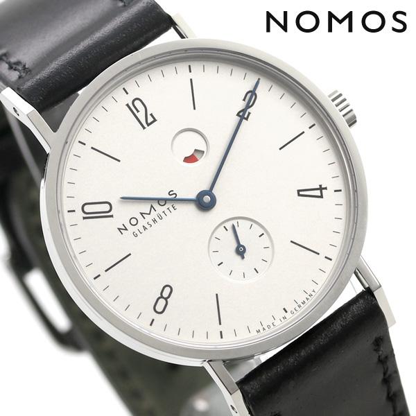 ノモス NOMOS ドイツ製 手巻き 172 タンジェント パワーリザーブ 35mm メンズ 腕時計 TN1G1W2RD シルバー×ブラック 時計【あす楽対応】