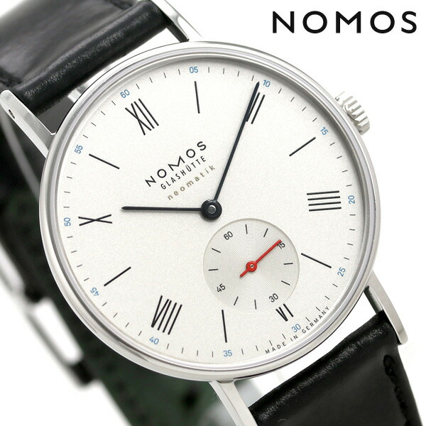 ノモス NOMOS ドイツ製 自動巻き 282 ラドウィッグ ネオマティック 36mm メンズ 腕時計 LD130012W2 シルバー×ブラック 時計【あす楽対応】