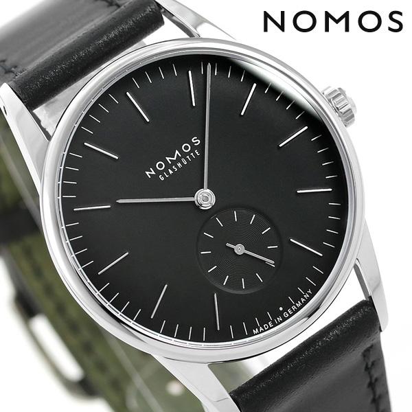 ノモス NOMOS ドイツ製 手巻き 307 オリオン アンスラサイト 35mm メンズ 腕時計 OR1A3SB2 ブラック 時計【あす楽対応】