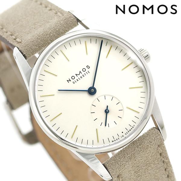 ノモス NOMOS ドイツ製 手巻き 322 オリオン 33mm レディース 腕時計 OR1A3GW233 シルバー×グレージュ 時計【あす楽対応】