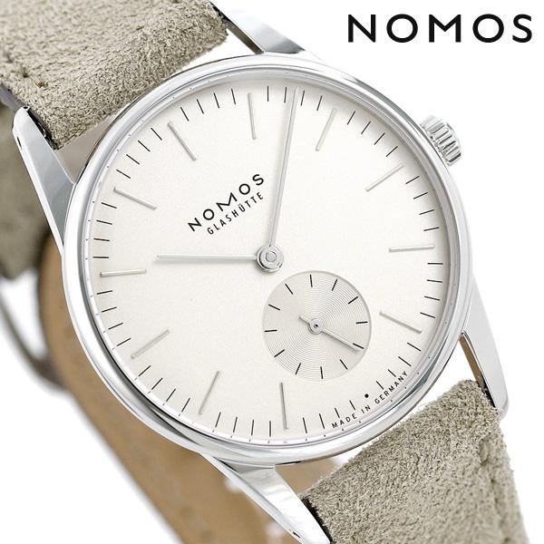 ノモス NOMOS ドイツ製 手巻き 324 オリオン 33 レディース 腕時計 OR1A3SW233 ホワイト×ベージュ 時計【あす楽対応】
