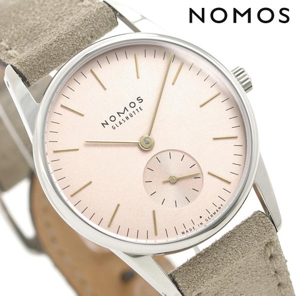 ノモス NOMOS ドイツ製 手巻き 325 オリオン 33 ローズ レディース 腕時計 OR1A3GR233 ローズ×ベージュ 時計【あす楽対応】
