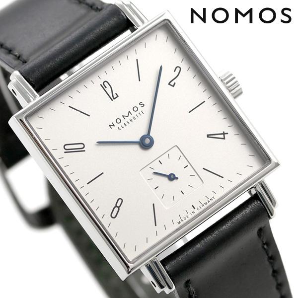 ノモス NOMOS ドイツ製 手巻き 406 テトラ スモールセコンド 30mm レディース 腕時計 TT1A1W2L シルバー×ブラック 時計【あす楽対応】