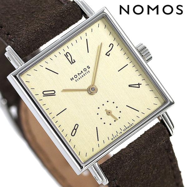 ノモス NOMOS ドイツ製 手巻き 472 テトラ 27 カラット レディース 腕時計 TT1A1W1KR ゴールド×ブラウン 時計【あす楽対応】