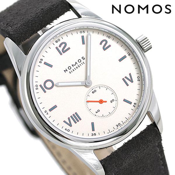 ノモス NOMOS ドイツ製 手巻き 735 クラブ キャンパス 38mm メンズ 腕時計 CL1A1W138CP シルバー×ダークグレー 時計【あす楽対応】