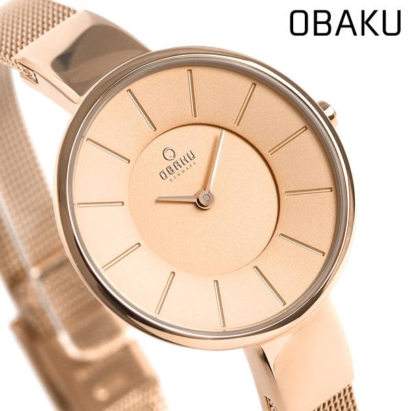 オバク OBAKU レディース 腕時計 32mm ローズゴールド V149LXVVMV メッシュベルト 時計【あす楽対応】