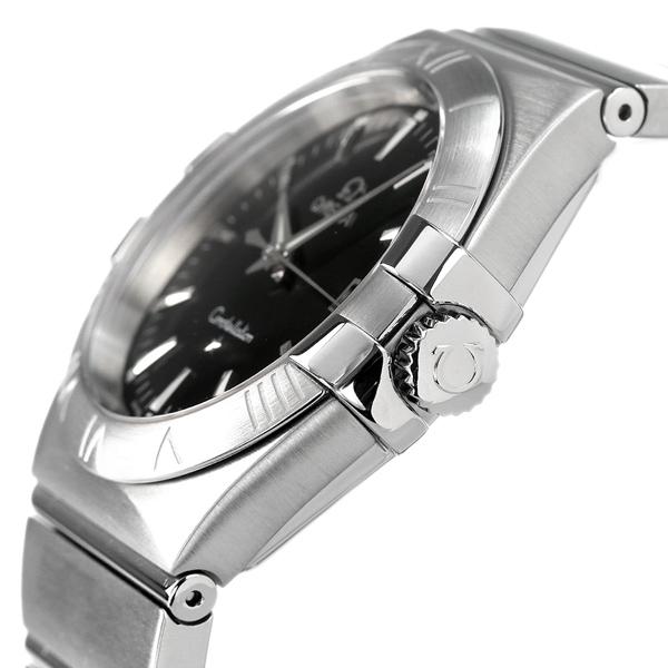 オメガ OMEGA メンズ 腕時計 コンステレーション ローマ数字 ブラック シルバー 123 10 35 60 01 001 新品 時計EDH9WI2Y