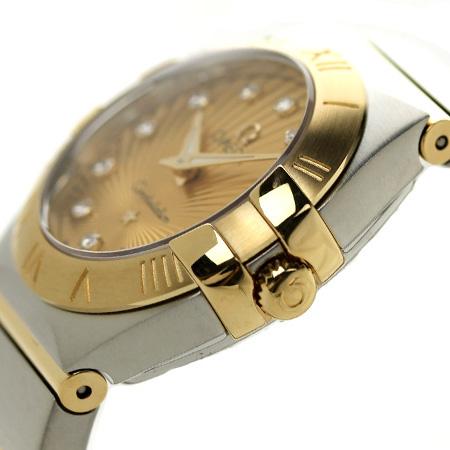 omegakonsutereshon 24MM女士手錶123.20.24.60.58.001 OMEGA香巴紐×黄色黄金