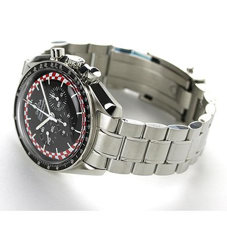 奥米伽速度主人月亮表42MM手卷311.30.42.30.01.004 OMEGA人手表计时仪黑色