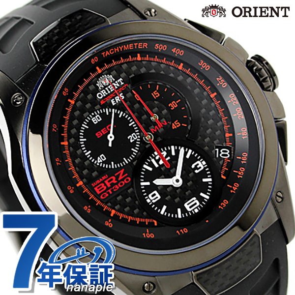 Orient joins ERS×BRZ world limited model WV0031KT ORIENT watch chronograph black x black