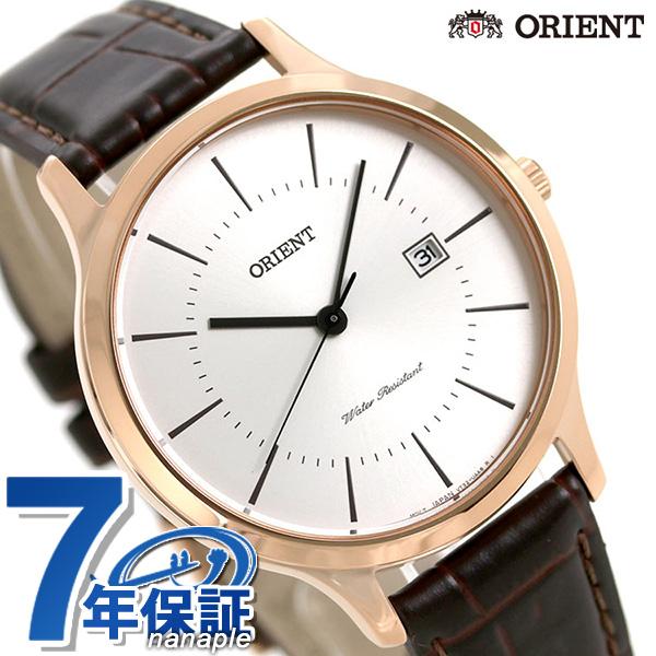 オリエント コンテンポラリー メンズ 腕時計 RH-QD0001S ORIENT 時計 ホワイト×ダークブラウン