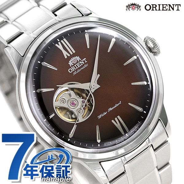 オリエント 腕時計 メンズ ORIENT 日本製 自動巻き クラシック セミスケルトン RN-AG0016Y ブラウングラデーション 時計