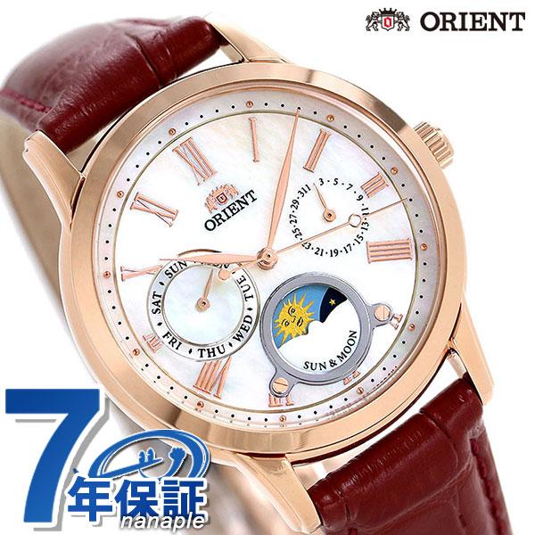 オリエント 腕時計 ORIENT クラシック サン&ムーン 35mm 革ベルト RN-KA0001A