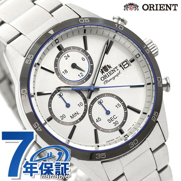 オリエント 腕時計 メンズ ORIENT 日本製 コンテンポラリー クロノグラフ RN-KU0001S ホワイト 時計