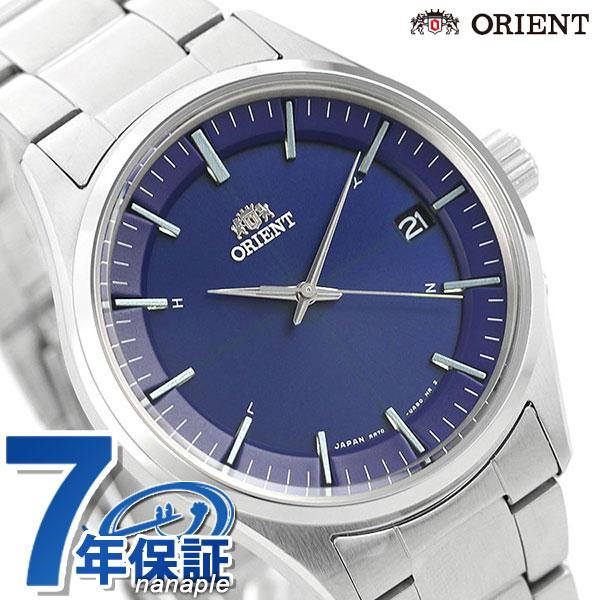 【10日はさらに+4倍に500円割引クーポン】 オリエント 腕時計 メンズ ORIENT 日本製 電波ソーラー コンテンポラリー カレンダー RN-SE0003L ネイビー 時計【】