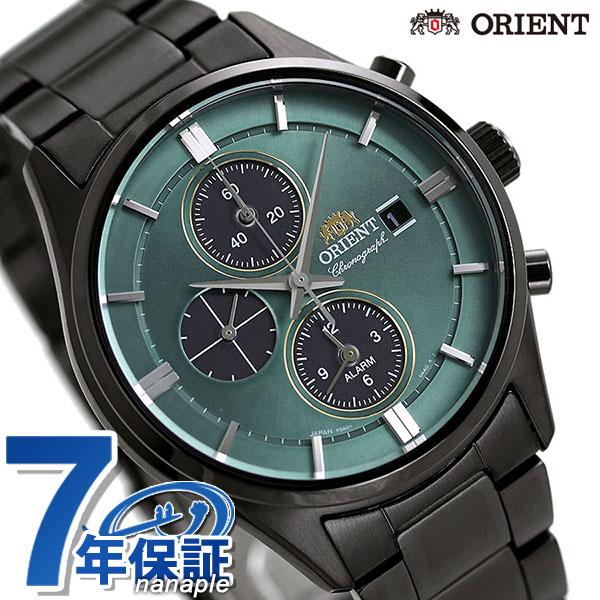 オリエント 腕時計 ORIENT コンテンポラリー クロノグラフ ソーラー RN-TY0001E メンズ グリーン×ブラック 時計【あす楽対応】