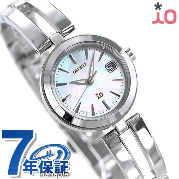 オリエント 腕時計 ORIENT イオ ナチュラル&プレーン 24mm ソーラー RN-WG0001S ホワイトシェル 時計
