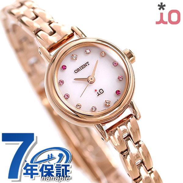 店内ポイント最大43倍!16日1時59分まで! オリエント 腕時計 レディース ORIENT イオ フラワー ソーラー WI0411WD ピンク × ピンクゴールド 時計