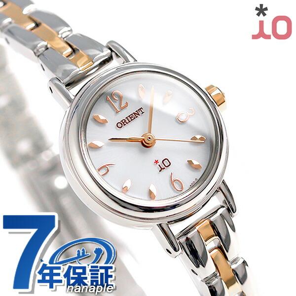オリエント 腕時計 レディース ORIENT イオ フラワー ソーラー WI0421WD ホワイト × ピンクゴールド 時計