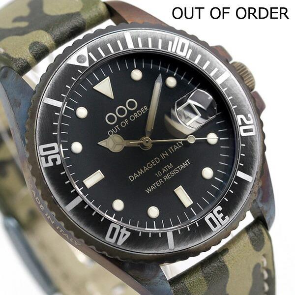 アウトオブオーダー クオーツ ヴィンテージレザー 40mm OOO-001-2CA Out Of Order 腕時計 時計【あす楽対応】