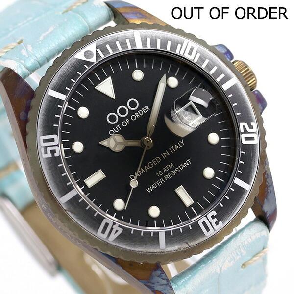 アウトオブオーダー クロコレザー コレクション 40mm OOO-001-2CCAZ Out Of Order 腕時計 時計【あす楽対応】