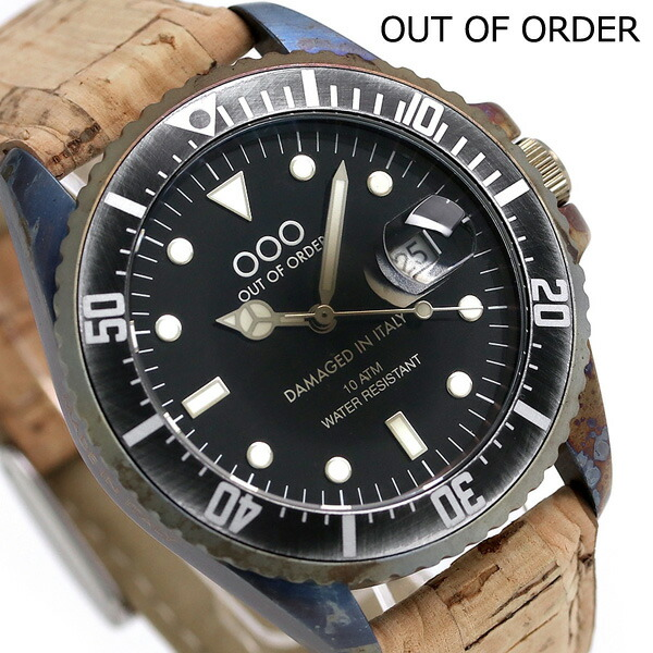 アウトオブオーダー クオーツ ヴィンテージレザー 40mm OOO-001-2SU Out Of Order 腕時計 時計【あす楽対応】