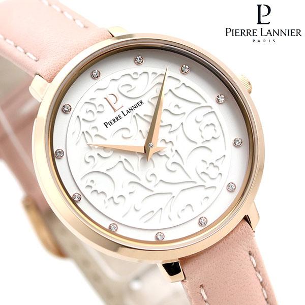 ピエールラニエ エオリア 33mm フランス製 レディース 腕時計 P039L905 Pierre Lannier シルバー×ピンク