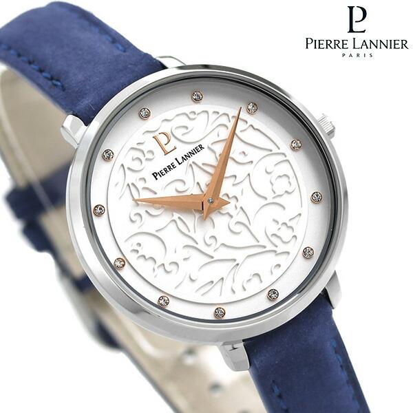 ピエールラニエ エオリア 33mm フランス製 レディース 腕時計 P040J606 Pierre Lannier 革ベルト 時計【あす楽対応】