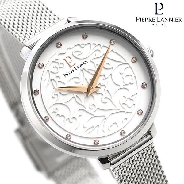 ピエールラニエ エオリア 33mm フランス製 レディース 腕時計 P040J608 Pierre Lannier シルバー