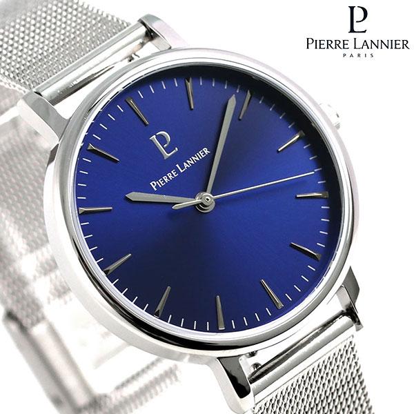 ピエールラニエ シンフォニー 33mm フランス製 レディース 腕時計 P089J668 Pierre Lannier ブルー 時計