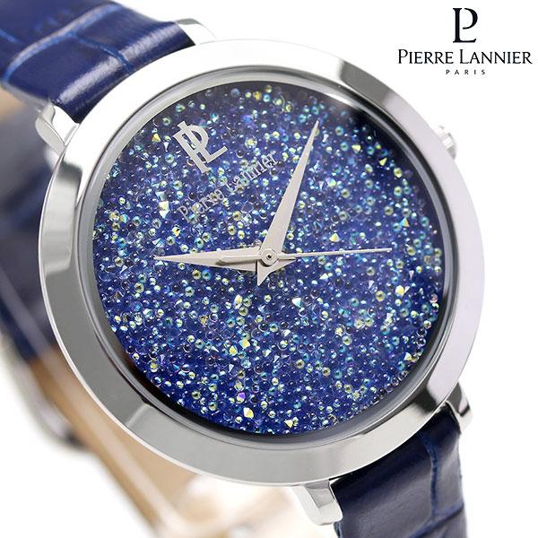 ピエールラニエ ルナ クリスタル ウォッチ レディース 腕時計 P095M666 Pierre Lannier ネイビー 時計