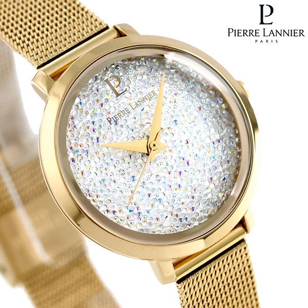 ピエールラニエ プティ ルナ クリスタル レディース 腕時計 P105J508 Pierre Lannier メッシュベルト 時計
