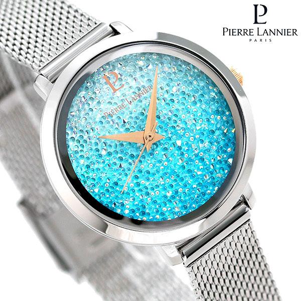 ピエールラニエ プティ ルナ クリスタル 29mm ブルーグラデーション P107J668 Pierre Lannier 腕時計 時計
