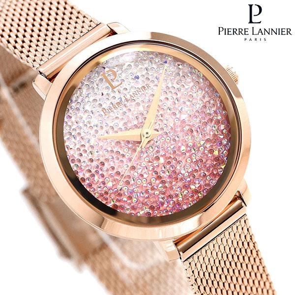 ピエールラニエ プティ ルナ クリスタル 29mm ピンクグラデーション P108G958 Pierre Lannier 腕時計 時計