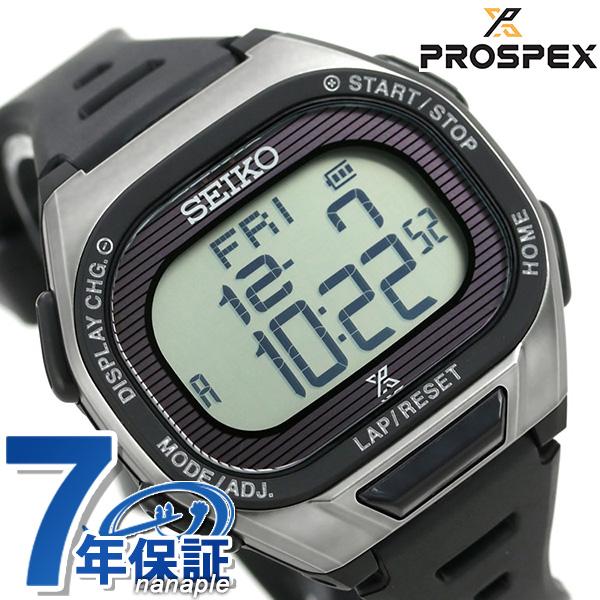 セイコー ランニングウォッチ メンズ 腕時計 ソーラー デジタル SBEF045 SEIKO プロスペックス シルバー×ブラック 時計【あす楽対応】