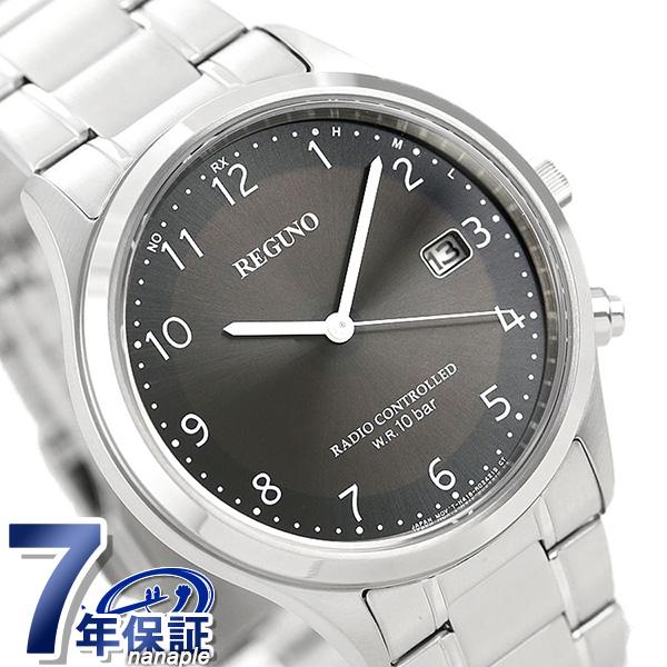シチズン レグノ ソーラー電波時計 カレンダー メンズ 腕時計 KL8-911-51 CITIZEN REGUNO ブラック 時計【あす楽対応】