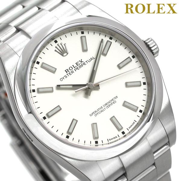 【当店なら!エントリーだけで3000P 11日1時59分まで】 ロレックス オイスター パーペチュアル 39mm メンズ 腕時計 114300 ROLEX ホワイト 新品 時計【あす楽対応】