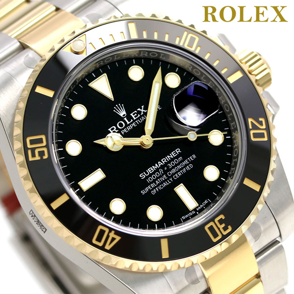 ロレックス サブマリーナー デイト 40mm 18KYG 116613LN ブラック ROLEX メンズ 腕時計