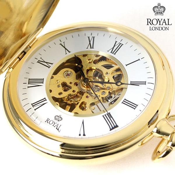 店内ポイント最大43倍!16日1時59分まで! ロイヤルロンドン 懐中時計 手巻き 90005-02 ROYAL LONDON ポケットウォッチ 時計