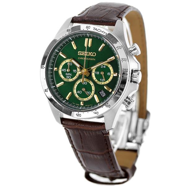 separation shoes e1ae7 160b3 セイコー クロノグラフ 42mm 革ベルト メンズ 腕時計 SBTR017 SEIKO グリーン×ダークブラウン 時計【あす楽対応】|腕時計のななぷれ