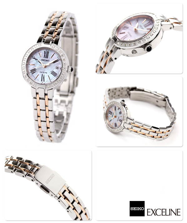 hot sale online 554c7 4f3dc セイコー ドルチェ&エクセリーヌ 電波ソーラー ダイヤモンド レディース SWCW008 SEIKO DOLCE&EXCELINE 腕時計  時計|腕時計のななぷれ